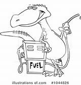 Gas Pump Drawing Clipart Cartoon Station Dinosaur Illustration Coloring Line Toonaday Royalty Floor Standing Plan Leishman Ron Rf Sketch Template sketch template