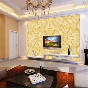 Large, Yellow, Marble, Texture, Design, Wallpaper, Mural, Painting, Living, Room, Bedroom, Wallpaper, Tv