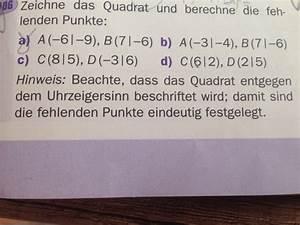 Punkte Berechnen : die fehlenden punkte eines quadrats durch vektoren berechnen a 6 9 b 7 6 mathelounge ~ Themetempest.com Abrechnung