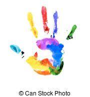 handprint vectors vector clipart eps images  stock
