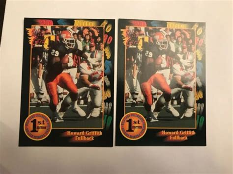 1991 Wild Card 18 Howard Griffith Rookie Lot Rc Broncos