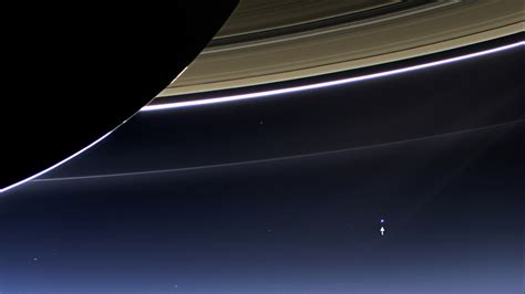 Our Pale Blue Dot Seen From Saturn