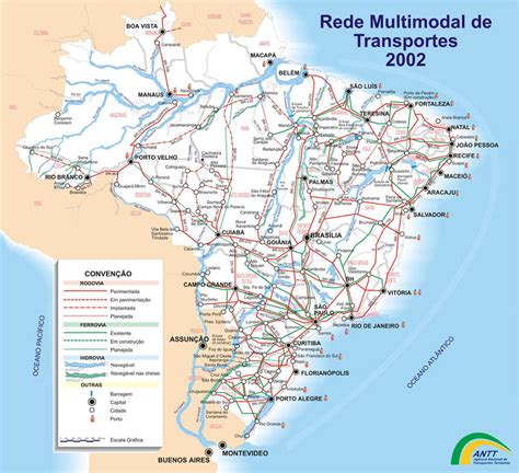 transportation map  brazil