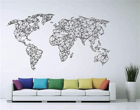Carte Du Monde Geometrique Sticker by Les 25 Meilleures Id 233 Es De La Cat 233 Gorie Mappemonde Sur