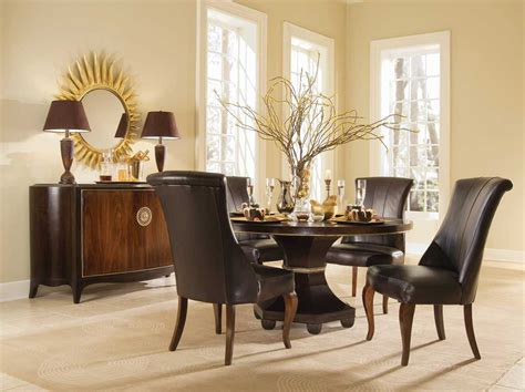 Bob Mackie Furniture Dining Room by American Drew Bob Mackie Home Signature Round Ribbon 60