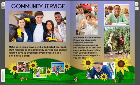 Yearbook Pages for Community Service Clubs & Student Field ...