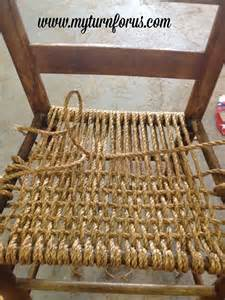 rope or hemp bottomed chair