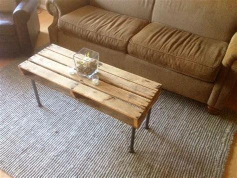 diy metal iron pipe  pallet coffee table pallet