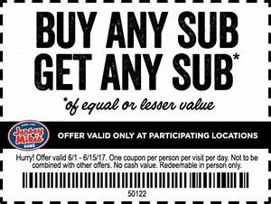 BOGO Jersey Mike's Subs Coupon!! :: Southern Savers