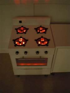 Drain Grates As Burners  With Red Led Lights Underneath
