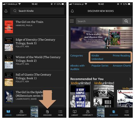 kindle for ios updates with extended prime reading and