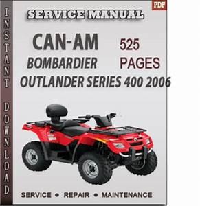 Can-am Bombardier Outlander Series 400 2006 Factory Service Repair Manual Download