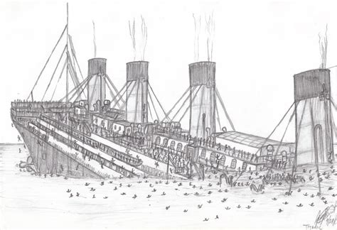 Rms Lusitania Model Sinking by How To Draw Sinking Titanic