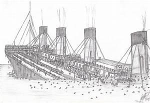 How to draw sinking titanic
