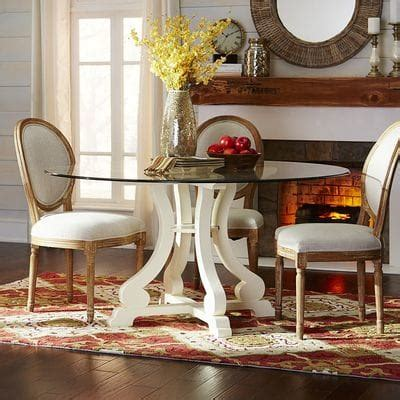 white vintage table l marchella antique white round dining table base pier 1
