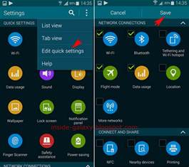 Samsung Galaxy Settings Menu