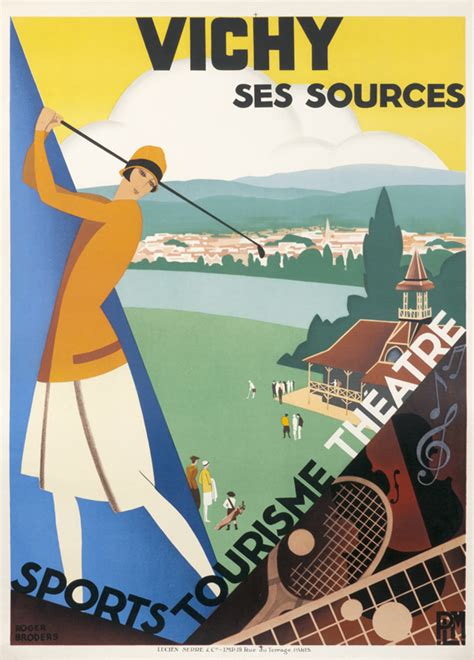 Art Deco Boat Poster by Art Deco Posters