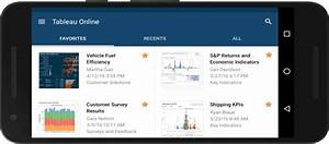 Phone Home  Tableau Mobile Now On Android