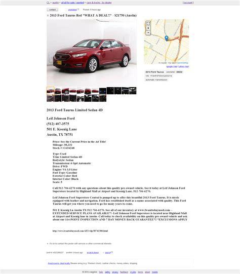 craigslist template craigslist posting for car dealers auto dealer craigslist posting autofusion 0174