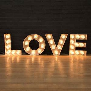 39love39 light up fairground bulb sign by goodwin goodwin With love light letters