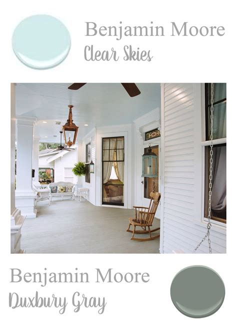 Porch Paint Colors Benjamin by Southern Home Paint Color Palette Porch Ceiling Porch