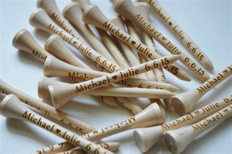 personalized golf tees wedding favors fathers day