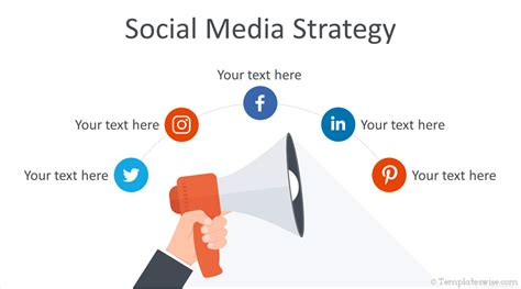 social media strategy powerpoint template templateswisecom