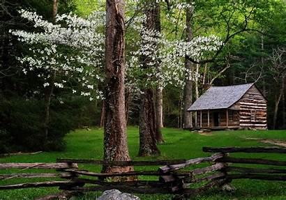 Cabin Smoky Mountains Mountain Log Desktop Cabins