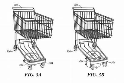 Shopping Walmart Carts Driving Patent Self Mart