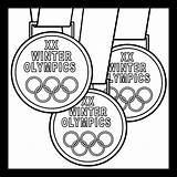 Olympic Medal Coloring Drawing Medals Gymnastics Abcteach Template Sketch Credit Larger Getdrawings sketch template