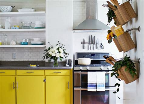colorful kitchen  clever wall storage cool kitchens