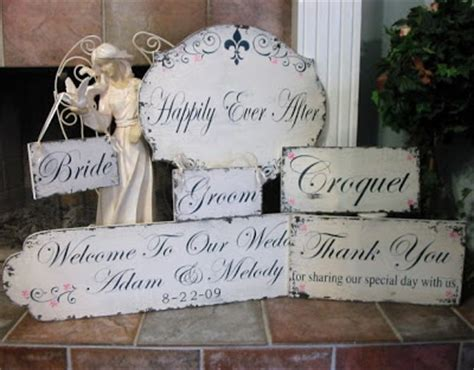 shabby chic wedding signs preppy chic bride shabby chic signage with a personal touch
