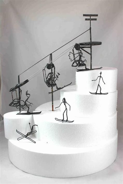 Ski Lift Wedding Cake Topper From