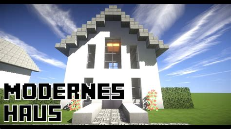 Minecraft Modernes Haus  Einfamilienhaus Bauen 10x10