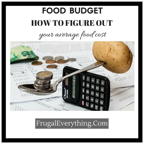 budget cuisine food budget how to figure out your average food cost per