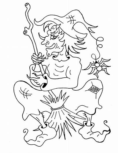 Witch Coloring Pages Printable Halloween Witches Wicked