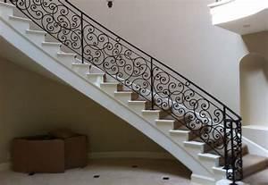 Ornamental Wrought Iron Staircase Railing - Orange County