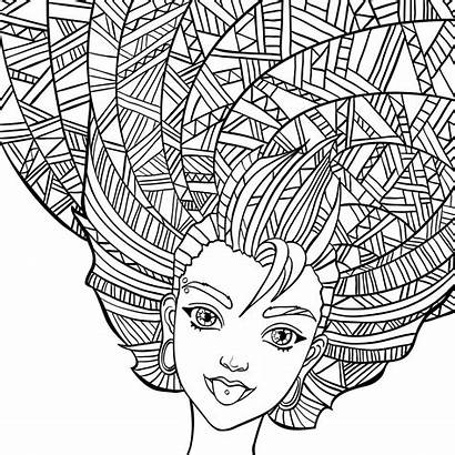 Coloring Hair Curly Pages Crazy Getcolorings Colouring