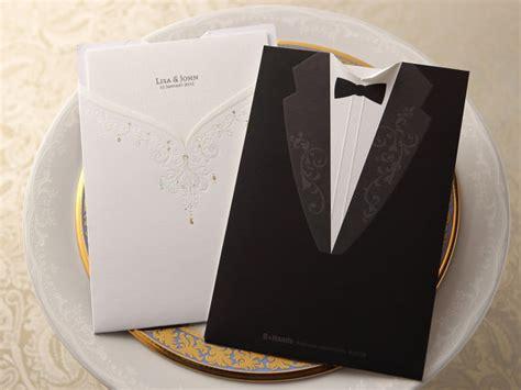 Modern Times Vintage Pocket Wedding Invitation Sample
