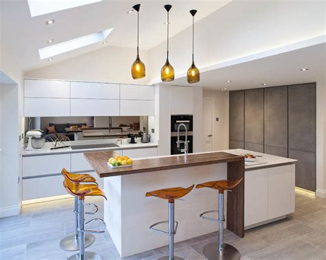 contemporary kitchen living space herts contemporary
