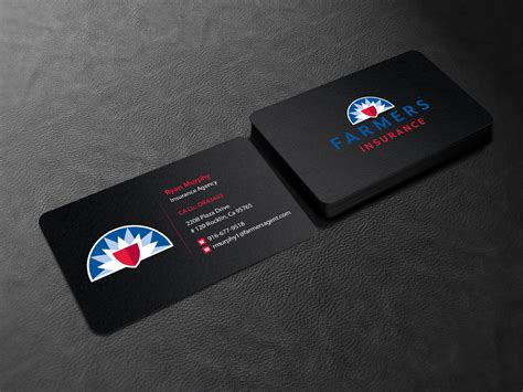 Just give us your information and we will add it to the card to make it look it's best. Masculine, Bold, Insurance Business Card Design for a Company by Creations Box 2015 | Design ...