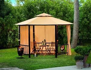 pavillon 6 eckig 1 stuck hellweg die profi baumarkte With französischer balkon mit garten sonnenschutz pavillon
