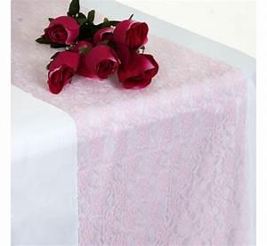 Chemin De Table Rose Pale : chemin de table en dentelle rose les couleurs du mariage ~ Teatrodelosmanantiales.com Idées de Décoration