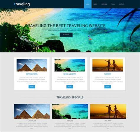 Tourism Website Design Free Templates by 55 Best Travel Website Templates Free Premium