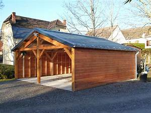 Garage Bois 40m2 : charpente bois garage j cherence ~ Melissatoandfro.com Idées de Décoration