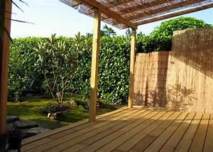 Pergola Avec Canisse : 2007 cr ation du jardin de th chaniwa fujijardins ~ Melissatoandfro.com Idées de Décoration
