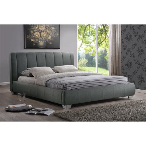 Baxton Platform Bed by Wholesale Interiors Baxton Studio Upholstered