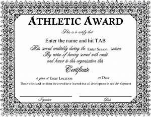 Sport Certificate Templates Award Certificate Templates