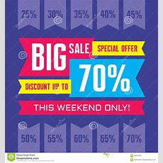 Big Sale Abstract Vector Banner  Special Offer  Discount Up To 70% Sale Vector Banner Sale