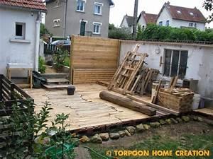 Terrasse Avec Palette : sol terrasse palette ~ Melissatoandfro.com Idées de Décoration